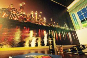 工場夜景を印刷した壁紙(MY WALLPAPER)