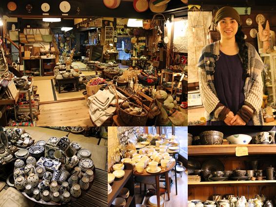 「ハクトヤ」はオーナーの一瀬裕子さんが本当に心から素敵と思える陶器や雑貨などが並んでいる。こちらも篠山の古民家をセルフリノベーションでショップに生まれ変わらせた