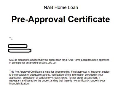 海外銀行の融資事前審査の証明書(Pre-Approval Certificate)